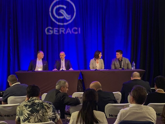 "AB Capital's Joshua Pukini speaks at 3rd Annual Geraci ""Captivate"" event in Las Vegas, Nevada"