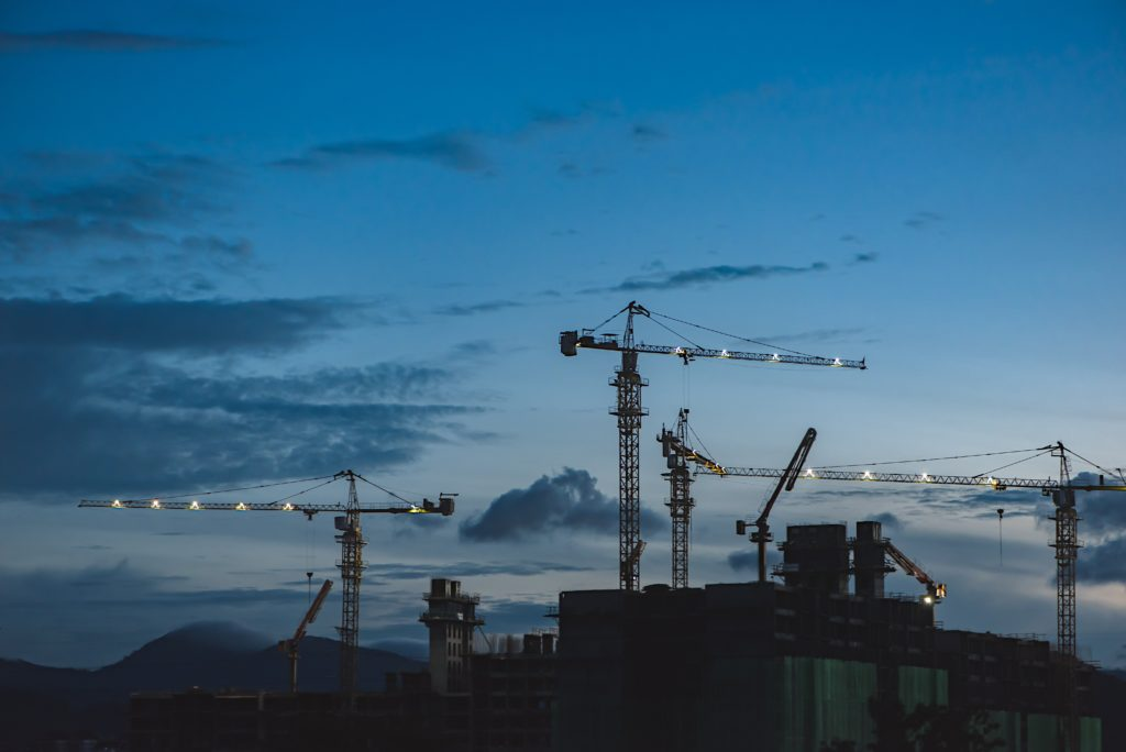 construction site nighttime