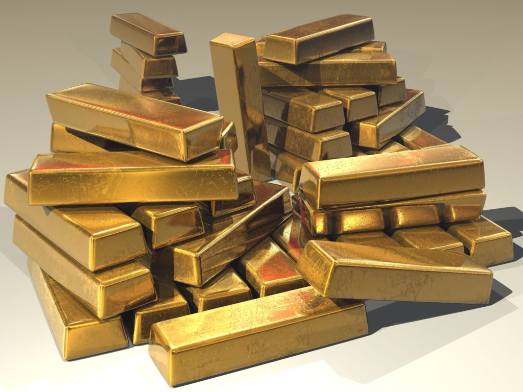 blocks of gold