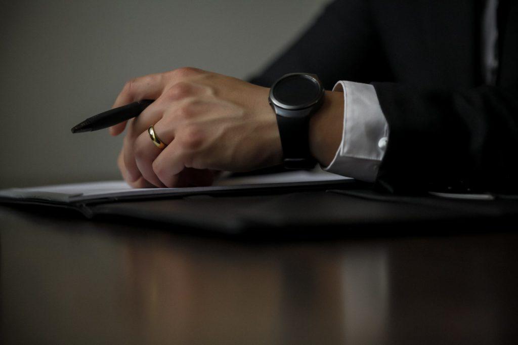 paperwork woman's hand