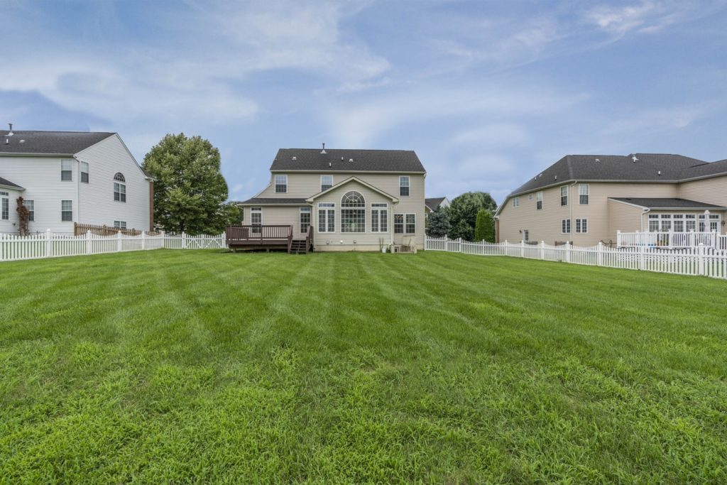 residential property on grass